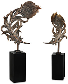 Uttermost Quill Feathers Sculpture, Set of 2