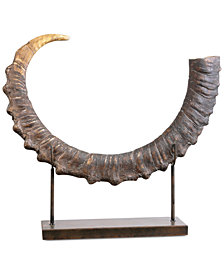 Uttermost Sable Antelope Horn Sculpture