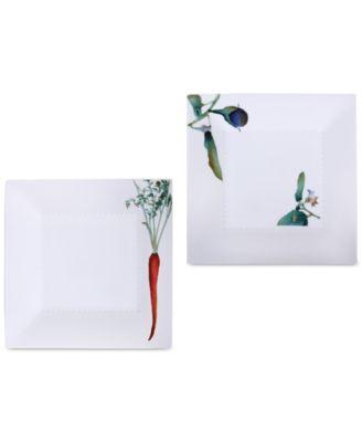 Kyoka Shunsai 2-Pc. Square Plate Set