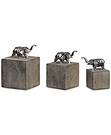 Uttermost Tiberia Set of 3 Elephant Sculptures