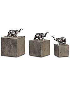 Uttermost Tiberia Set of 3 Elephant Sculptures