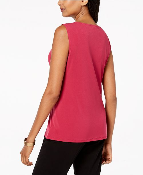 for Berry Neck Macy's Collection Created Riche Top JM Twist Tank awYTZHq