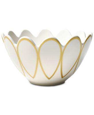 Gold Scallop Dinnerware Collection Scallop Edge Bowl