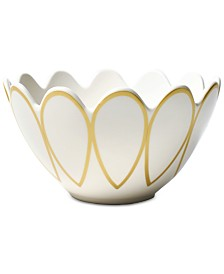 Coton Colors Gold Scallop Dinnerware Collection Scallop Edge Bowl