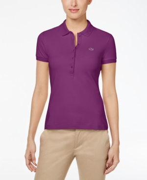 LACOSTE FIVE-BUTTON SLIM-FIT POLO SHIRT