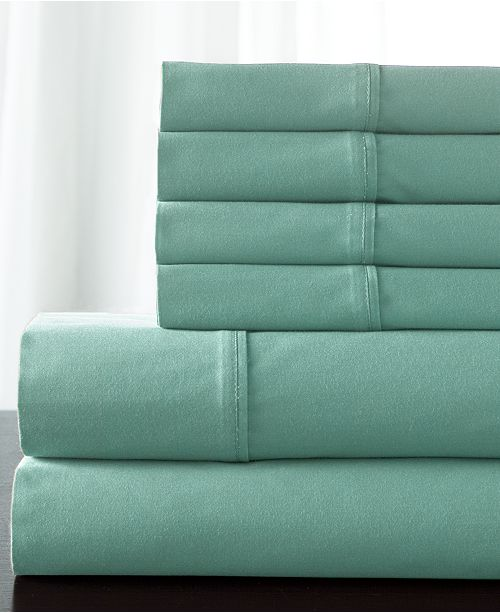 Elite Home Solid 800 Thread Count 6-Pc. Queen Sheet Set