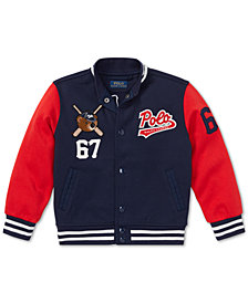Polo Ralph Lauren Little Boys Polo Bear Baseball Jacket