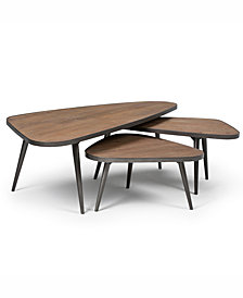 CLOSEOUT! Aubrey 3-Pc. Nesting Coffee Table Set, Quick Ship