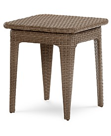 CLOSEOUT! Silver Lake Indoor/Outdoor Flat Rattan End Table, Created for Macy's