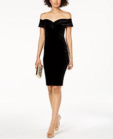 Bardot Velvet Off-The-Shoulder Sheath Dress