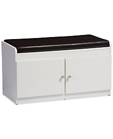 Glasser Cabinet with Seating Bench, Quick Ship
