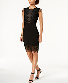 Ivanka Trump Lace Appliqué Sheath Dress
