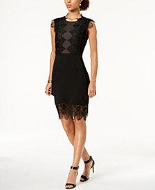 Ivanka Trump Lace Appliqué Sheath Dress