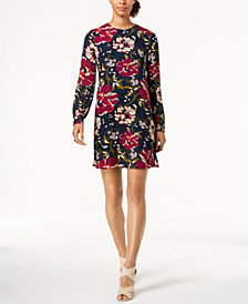 Tommy Hilfiger Floral-Print Chiffon A-Line Dress