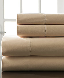 Hemstitch Cotton 400-Thread Count 4-Pc. White Full XL Sheet Set