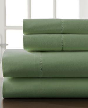 Hemstitch Cotton 400-Thread Count 4-Pc. Ivory Full Sheet Set Bedding 6408735