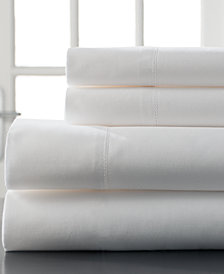 Hemstitch Cotton 400 Thread Count 4-Pc. White Split King Sheet Set
