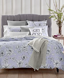 CLOSEOUT! Floral 3-Pc. Full/Queen Duvet Set, Created for Macy's