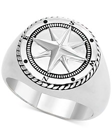 EFFY® Men's Compass Ring in Sterling Silver