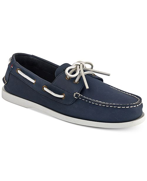 03a736fae Tommy Hilfiger Men s Perforated Bowman Boat Shoes   Reviews - All ...