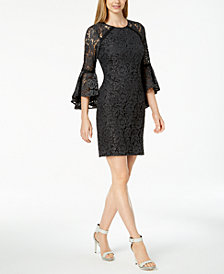 Calvin Klein Bell-Sleeve Lace Dress