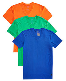 Polo Ralph Lauren Men's 3-Pk. Classic V-Neck Shirts