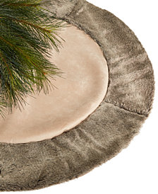 Holiday Lane Brown Border 48'' Tree Skirt, Created for Macy's