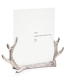 Holiday Lane Antler Photo Frame, Created for Macy's