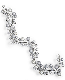 Holiday Lane Silver Ball Tree Garland, Created for Macy's