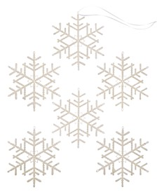 Shine Bright Set of 6 Shatterproof White Snowflake Ornaments, Created for Macy's