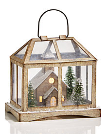 Martha Stewart Collection Chimney Lodge House White Lantern, Created for Macy's