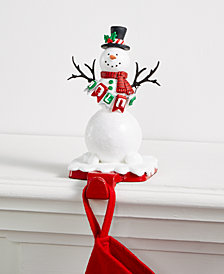 Holiday Lane Hello Snowman Stocking Holder, Created for Macy's