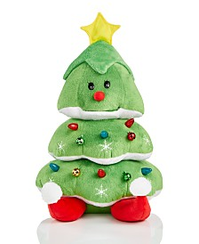 Holiday Lane Animated Plush Light-Up Rocking Christmas Tree, Created for Macy's