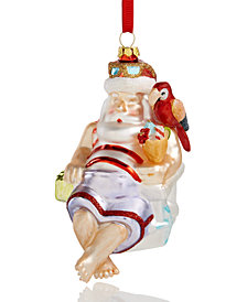 Holiday Lane Santa with a Drink Ornament, Created for Macy's