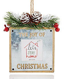 Holiday Lane Photo Frame Ornament, Created for Macy's