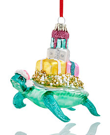 Holiday Lane Turtle Bearing Gifts Ornament, Created for Macy's