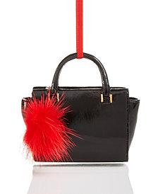 Holiday Lane Pom-Pom Handbag Ornament, Created for Macy's