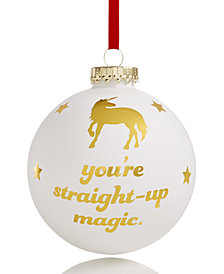 Holiday Lane 2018 Unicorn & Stars Ball Ornament, Created for Macy's