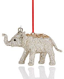 Holiday Lane Plastic Glitter Elephant Ornament, Created for Macy's