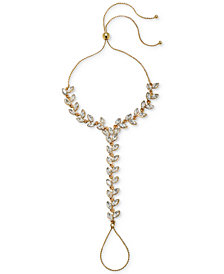 Jewel Badgley Mischka Gold-Tone Crystal Hand Chain
