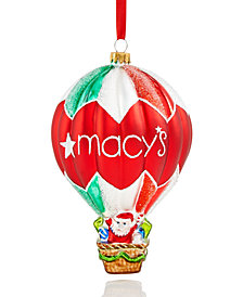 Holiday Lane Glass Macy's Hot Air Balloon Ornament, Created for Macy's