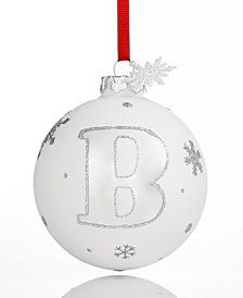 Holiday Lane Initial 'B' Ball Ornament, Created for Macy's