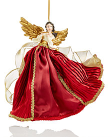 Holiday Lane Burgundy/Gold Flying Angel Hanging Ornament, Created for Macy's