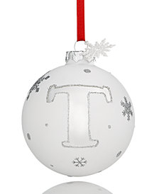 Holiday Lane Initial 'T' Ball Ornament, Created for Macy's