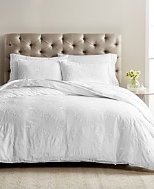 CLOSEOUT! Signature Garden 3-Pc. Embroidered Full/Queen Duvet Set, Created for Macy's