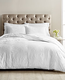 Martha Stewart Collection Signature Garden 3-Pc. Embroidered King Duvet Set, Created for Macy's