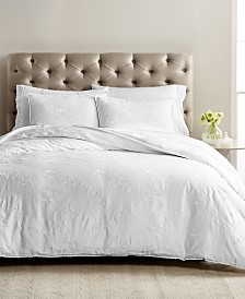 CLOSEOUT! Martha Stewart Collection Signature Garden 3-Pc. Embroidered Duvet Sets, Created for Macy's