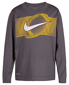 Nike Toddler Boys Dri-FIT Halftone Football Graphic-Print Shirt