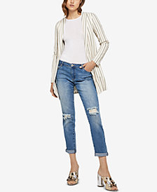 BCBGeneration Striped Open-Front Blazer