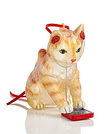 Holiday Lane Cat On Tablet Ornament, Created for Macy's